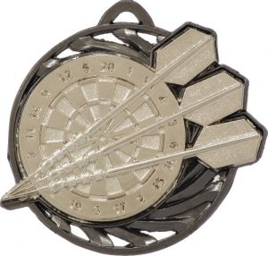 Darts Vortex Medal Silver