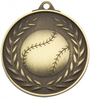 Baseball Wreath - Antique Gold