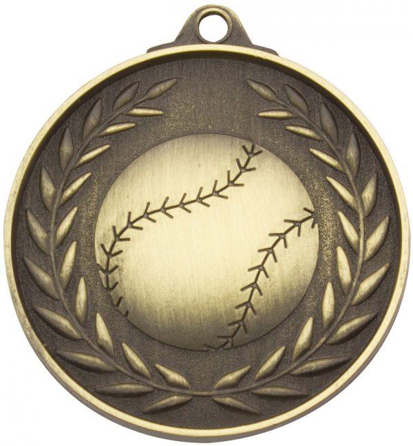 Baseball Wreath - Antique Gold