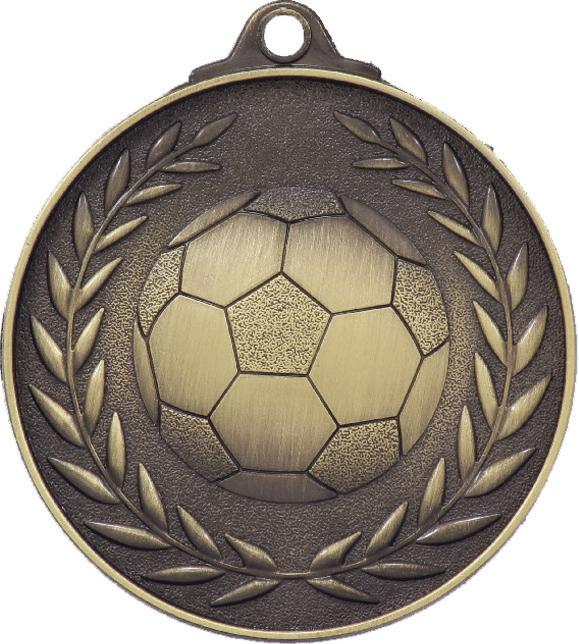 Soccer Wreath - Antique Gold