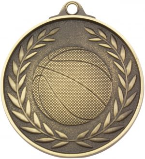 Basketball Wreath - Antique Gold