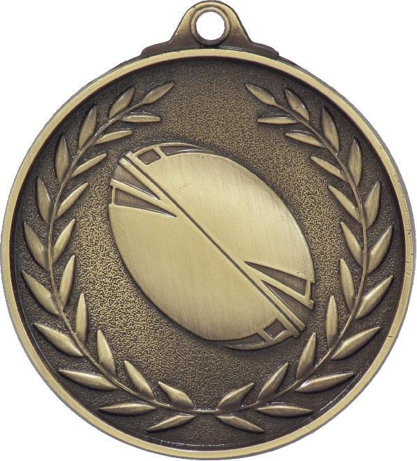 Rugby League Wreath - Antique Gold