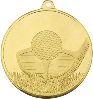 Golf Medal Frosted Glacier Gold