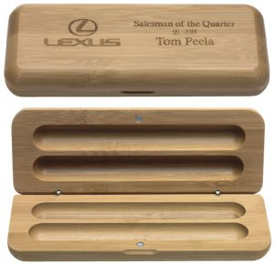 Bamboo Pen Box - Double