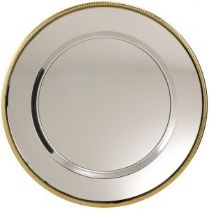 Metal Tray Gold Edge 300mm