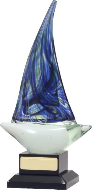 Art Glass Sailing 225mm