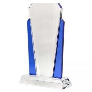 Crystal V Award Blue Sides 215mm