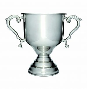 Luxury Silver Cup on Base 180mm