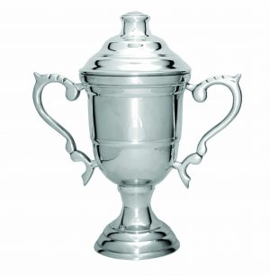 Luxury Silver Cup on Base 160mm
