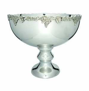 Luxury Silver Bowl on Base 300mm