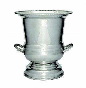 Luxury Silver Wine Cooler on Base230mm